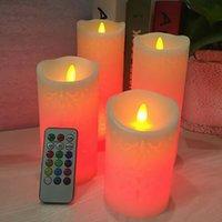 Cavalle a led candele senza fiamma 18-chiave telecomando Tempi colorati Candela elettronica a candela di nozze Home Decor HH21-151