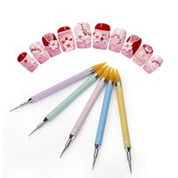 Nail Art Kits Fingerqueen Dual-ended Dotting Pen Rhinestone Studs Picker Wax Pencil Crystal Beads Handle Brush Tool