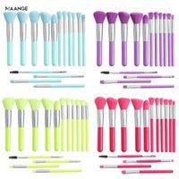 Maange 15 Adet Floresan Serisi Makyaj Fırçalar Aracı Seti Toz Göz Farı Vakfı Allık Karıştırma Kozmetik Makyaj Fırça Seti