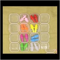 1000 pairs Şile Kulaklıklar Yüzücüler Yumuşak ve Esnek Kulak Tapaları Seyahat Uyku için Gürültü Kulak Plug 8 Renkler TWL3Y JY7HR