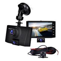 Polegada Carro DVR Video Recorder Dash Câmera Vista traseira 1080P HD Loop Gravação G-Sensor Night Vision 170 Graus Grande Ângulo DVRs