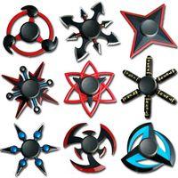 Naruto mão spinner liga de zinco metal fidget spinner dedotip gyro girando top tops toys ansiedade