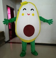 Performance Avocado Mascot Costume Halloween Christmas Fancy Party Cartoon Character Outfit Suit Adult Women Men Dress Carnival Unisex Adults
