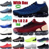 상자 플라이 2.0 1.0 남자 여성 운동화 신발 체육관 블루 재킷 팩 팀 붉은 트리플 블랙 화이트 망 스니커즈