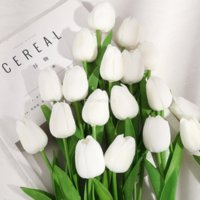Colors Real Touch Artificial Flowers Mini Tulip Faux Floral Greenery party Wedding home decor