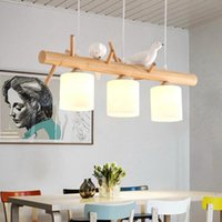 Pendant Lamps Led Chandeliers For Table Dining Kitchen Modern Wooden Ceiling Hanging Light Fixture Loft Home Interior Living Room Lamp