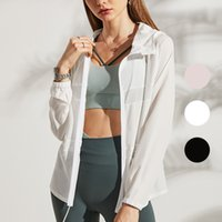 Women Jackets Coats Girls Sunscreen Clothing Summer Skin Are Ultra-thin and Breathable Outdoor Sports Yoga Fitness Running