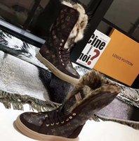 Классика зимние снежные ботинки реальные меховые скольжения кожаные водонепроницаемые теплые колены высокие ботинки моды пинетки Австралия с коробкой ЕС: 35-42 Home011 01