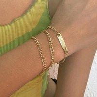 Link, Chain B1293 Simple Personality Hand Decoration Alloy Elegant Fashion Creative Multi-layer Bracelet Jewelry