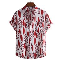 Белье рубашка с короткими рукавами мужчины летние цветочные свободные мешковатые повседневные шарики Hawaii Holiday Beach Tee Tops Buttons Blouse