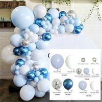 Blue Ocean, macaron latex balloons, birthday decorations, party supplies, wedding decorations, balloon chain set