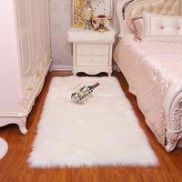 Plush carpet living room bedroom fur imitation wool bedside irregular blanket washable seat