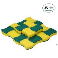 Sponge Scouring Pads Scrub Magic Borrador de limpieza Tazón de plumas Cepillos Limpiador Cocina HWD5856