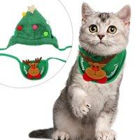 Dog Apparel 1 Set Christmas Pet Bandana Collar Pography Accessory Supply