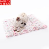 Kennels & Pens Dog Mat Cat Handmade Pure Cotton Pet Blanket Thickened Dog's Nest Machine Washable Bed Puppy