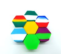 High-quality Silicone Jars Hexagon 26mL Containers Vaporizer Oil Wax Storeage Food Grade Holders Free DHL