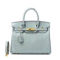 Original único kely crocodilo platinum europeu e americano bolsa nova bolsa de couro mulheres tem logotipo birkin xwl