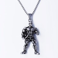 Fashion Various Shapes Strong Bodybuilding Muscle Men's Pendant Necklace Gym Fitness Gift Jewelry Stainless Steel Necklaces