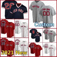 41 Chris Vendita Custom Red Jersey 28 JD Martinez 16 Andrew Benintendi Baseball Sox 9 Ted Williams 26 Wade Boggs Boston 34 David Ortiz Mens