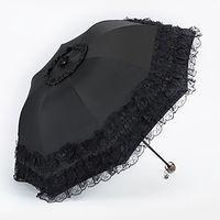 Laço Mulheres Guarda-chuva Sun Paraguas Mujer Preto Parasol Dobrável Princesa Guarda Chuva Invertido Decoração de Proteção UV