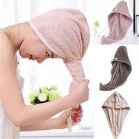 Magic Microfiber Hair Fast Drying Dryer Towel Bath Wrap Hat Quick Cap Turban Dry Shower Caps Waterproof Bonnets Women Designer
