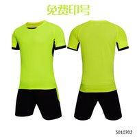 Men Adult soccer jersey short sleeve soccer shirts football uniforms shirt+shorts --S070102-5-2