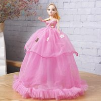 Cute Barbie Doll Wedding Party Decoration Princs 40 cm 3D Children's Creative Toy Girl Birthday Gift
