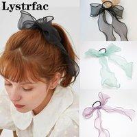 Lystrfac Malla de lazo de lazo Corbata para el cabello para las mujeres chicas scrunchies cinta de pelo hembra heaveband Purpieces Accesorios