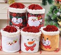 Natale-decorazioni sacchi di Natale regalo di Natale sacchetto di mele pupazzo di neve santa sacchetto di natale sacchetto di natale forniture per feste owe8708