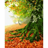 Paintings GATYZTORY Light Tree Frame Picture Diy Painting By Numbers Coloring Acrylic Canvas Handpainted Drawing Art