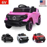 US-amerikanische Lager 6V-Einzelantrieb Spielzeug Autosicherheit Kinder Fahrt auf Auto Elektrische Batterie Räder Musik und leichte drahtlose Fernbedienung 3 Geschwindigkeit