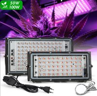 Full Spectrum LED Cultive Light 50W 100W Greenhouse Phyto Lámparas LEDs Planta Crece Lámpara Lluvia Al Aire Lluvia Foco