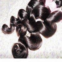 Brezilyalı Gevşek Spiral Curl Demetleri Bakire Saç Uzantıları 4 adetgrup İnsan Saç Dokuma Doğal Renk Saç