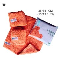 Cleaning Cloths 38*34CM(15*13.5IN) Brand Super Absorbent Kitchen Towels Furry Hand Towel Very Soft Suck Dust Microfiber Cloth Bathroom Rag T