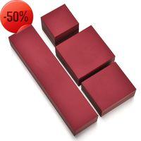 Вино красные ювелирные изделия упаковочные коробки ожерелье браслет сереги кулон кольцо