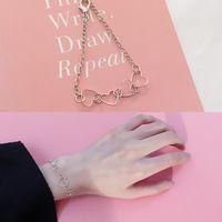 سحر أساور أنيقة الساحرة القلب braceletsbangles للنساء الفتيات الذهب والفضة اللون بيان المعادن مجوهرات بالجملة