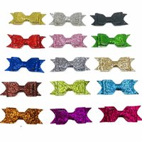 Sewing Notions Glitter Diy Bow knots Patches Clothes Applique Hair Accessory Shoe Garment Wedding Decoration (No Clips Included)