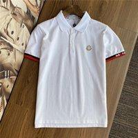 2021 여름 폴로스 셔츠 남성 Tshirts 패션 티셔츠 럭셔리 디자이너 남성 캐주얼 유럽 아메리칸 야외 짧은 소매 탑 티셔츠 A37