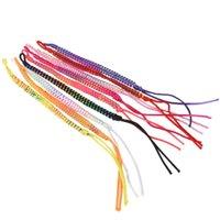 9pcs 다채로운 폴리 에스터 knurled 꼰 우정 팔찌 스타일 스레드 손목 발목 (무작위 컬러) 매력