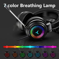 Headphones & Earphones Gamer Headphones Gaming Headsets Surround Sound Stereo Wired USB Microphone Colour Light PC PS4 Xbox Game Headset