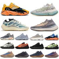 2020 Azareth 700 v3 Kanye West mens chaussures de course Alva Azaël os 380 Bleu Oat Mist hommes exotiques femmes sneakers sport Chaussures Zapatos