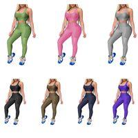 Femmes 2 pièces Ensemble d'entraînement Sports Bra et Leggings PLUS Taille Taille Tenue de yoga Taille Texture Texture Tracksuit