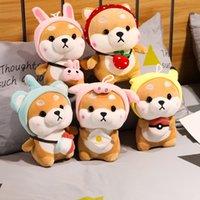 Peluche mignonne Shiba Inu Animaux en peluche Peluche Dog Turn en Porc Eléphant Rabbit Soft Toys pour Filles Enfants Cadeaux Anniversaire Présents
