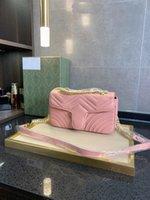 Узорная сумка Crossbody Wavy Love Messenger Женская цепь и золотая кожаная стена Серебро Качественная сумка Мода Высокое плечо Женщина Vgjag