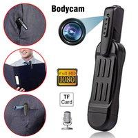 Bodycam Mini Câmera Pequena Caneta Full HD 1080P Vídeo DVR DVR Registrador de Enforcement Câmara Câmara Digital Esporte DV Micro Camcorder WebCamera Suporte 64GB TF Webcam