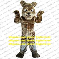 Luz tan bulldog cães pitbull touro cão pitbulls terrier mascote traje personagem adulto vívido pessoas de alta classe usá-los zx543