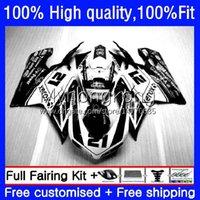 OEM injeção para Ducati 848S 1098S 1198S 07-12 Cowling 14no.145 848R 848 1098 1198 gloss preto S R 07 08 09 10 11 12 Corpo 1098R 1198R 2007 2008 2009 2010 2011 2012