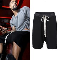 Harem Kanye High West Street Fashionable Mens Drop Crotch Shorts Baggy Hip Hop Drawstring Knee Length Large Size M-4xl