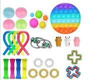 Party Gift Fidget Toys Finger Figet Spiner Popit Pop It Stretchy Rings Peapod Squeeze Animals Antistress Toy Pack Anti Stress