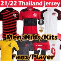 Nouveau maillot de football 2021 2022 Flamengo Soccer Jerseys Diego Gabriel B. De Arrascaeta B.Henrique Gerson E.Ribeiro 20 21 Hommes Enfants Femmes Kits Maillots de football
